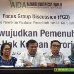 FGD Mendorong Penerbitan Peraturan Pemerintah Atas UU No