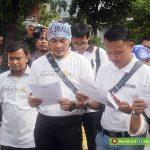 Pembacaan Rekomendasi Oleh Para Penyintas dalam Peringatan 3 Tahun Bom Thamrin, di Jl. Thamrin, Minggu, (13/01/19)