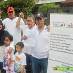 Sejumlah Penyintas Bersama Memperingati 3 Tahun Peristiwa Bom Thamrin, di Jl. Thamrin, Minggu (13-01-2019)