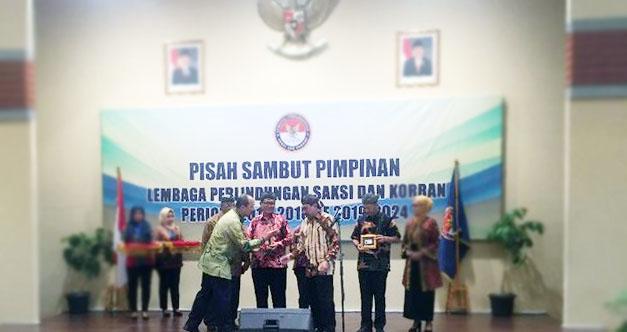 Serah Terima Jabatan Komisoner LPSK di kantor LPSK, Ciracas, Jakarta Timur, Selasa (15/1/2019).
