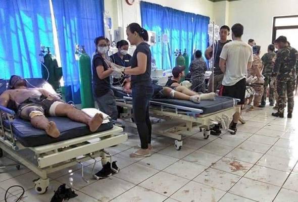 Korban Ledakan Bom di Gereja di Jolo, Sulu, Filipina. Image: WestMinCom Philippines/AP