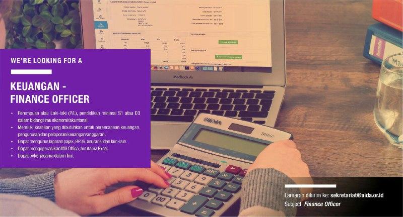 Lowongan AIDA 2019 - Keuangan Finance Officer